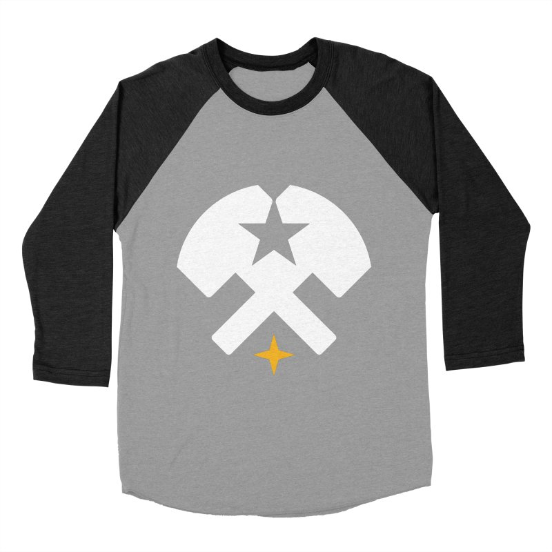 HCRD Stars and Hammers Men's Baseball Triblend Longsleeve T-Shirt by Hammer City Roller Derby
