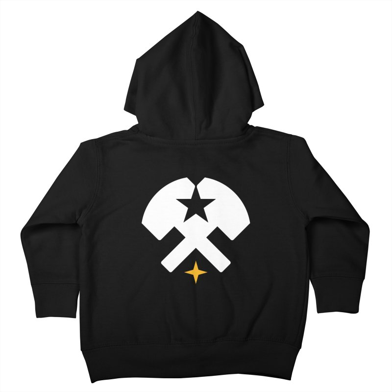 HCRD Stars and Hammers Kids Toddler Zip-Up Hoody by Hammer City Roller Derby