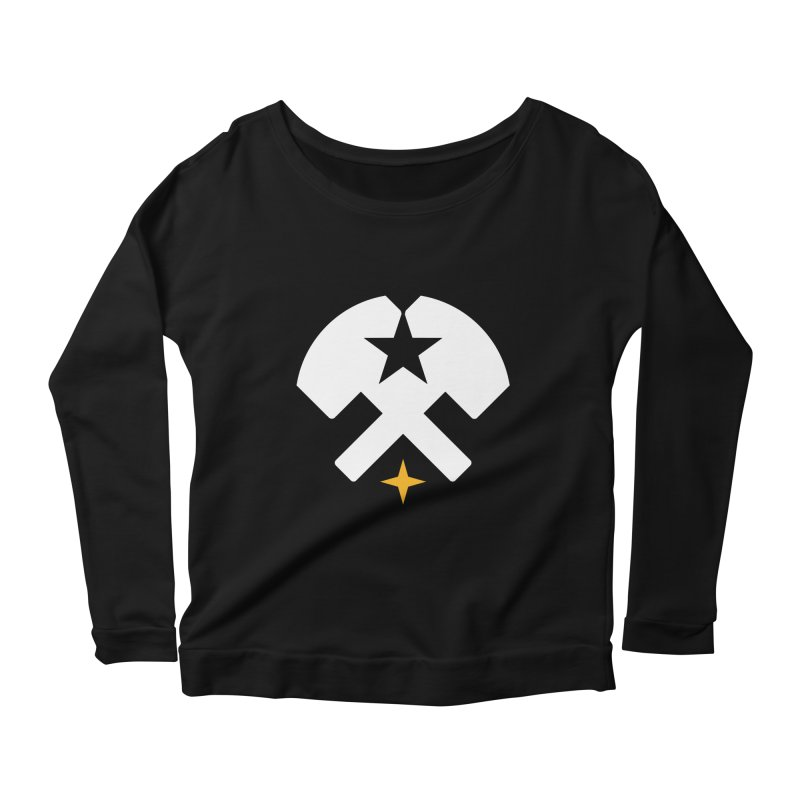 HCRD Stars and Hammers Women's Longsleeve Scoopneck  by Hammer City Roller Derby