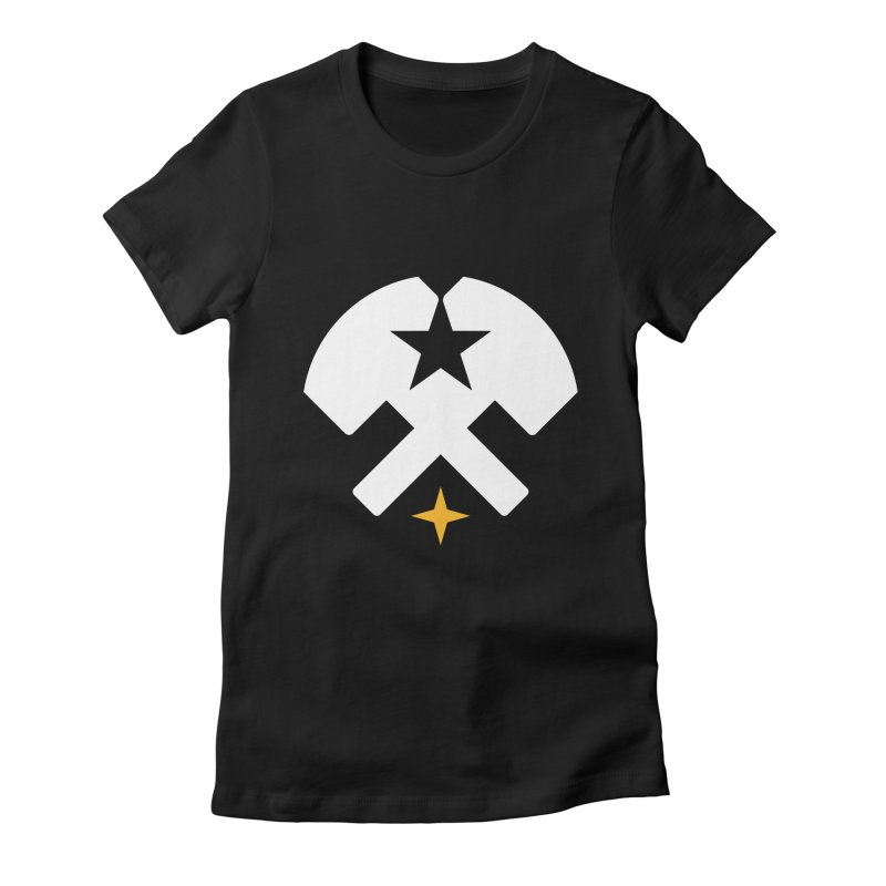 HCRD Stars and Hammers Women's Fitted T-Shirt by Hammer City Roller Derby