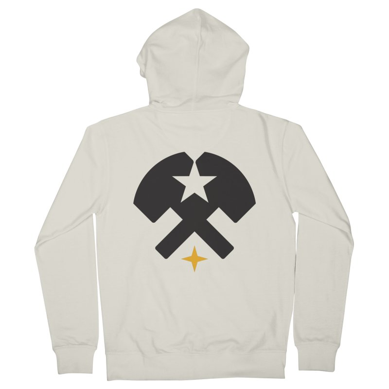 HCRD Stars and Hammers Men's Zip-Up Hoody by Hammer City Roller Derby