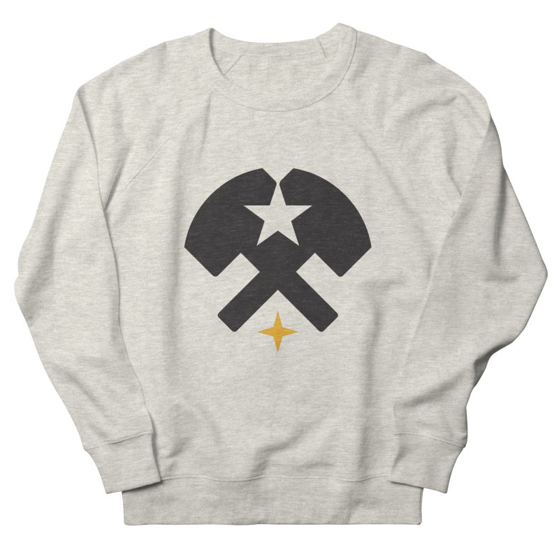 HCRD Stars and Hammers Men's French Terry Sweatshirt by Hammer City Roller Derby
