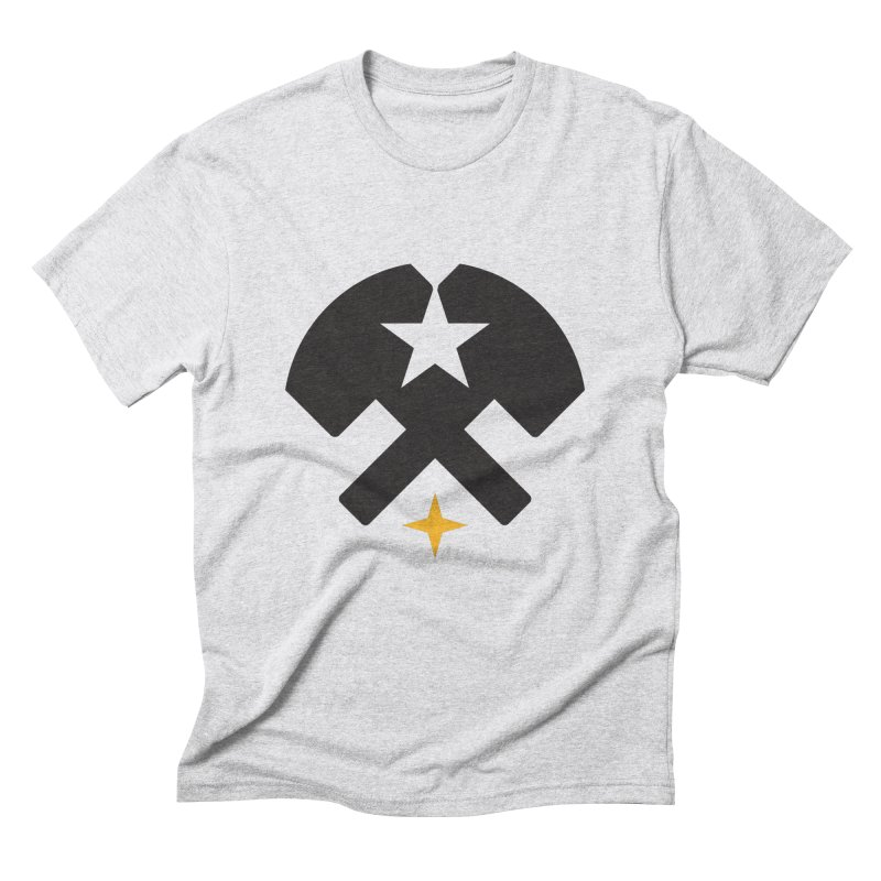 HCRD Stars and Hammers Men's Triblend T-Shirt by Hammer City Roller Derby