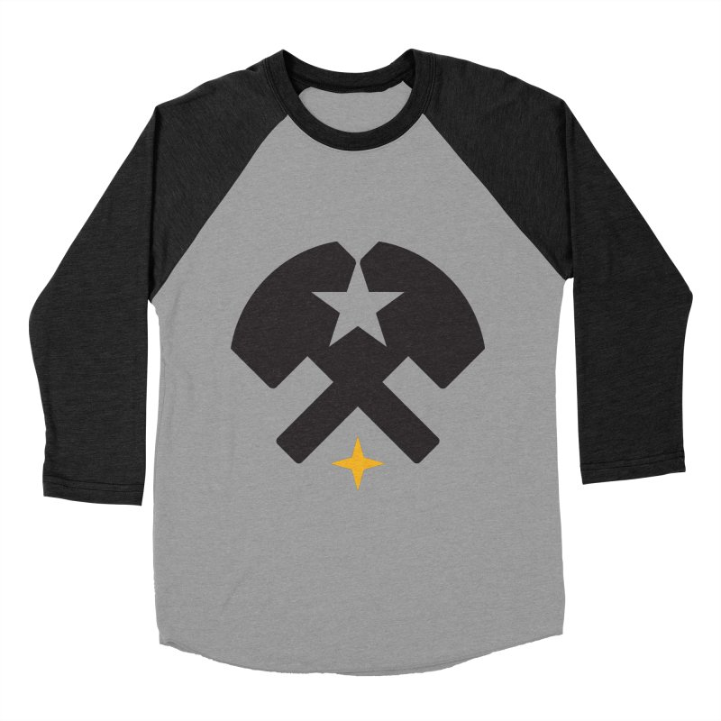 HCRD Stars and Hammers Men's Baseball Triblend T-Shirt by Hammer City Roller Derby