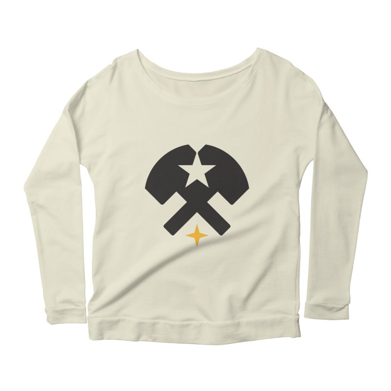 HCRD Stars and Hammers Women's Scoop Neck Longsleeve T-Shirt by Hammer City Roller Derby