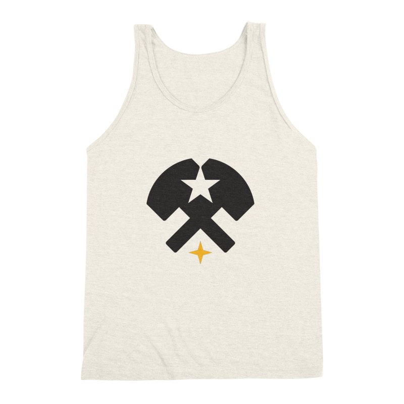 HCRD Stars and Hammers Men's Triblend Tank by Hammer City Roller Derby