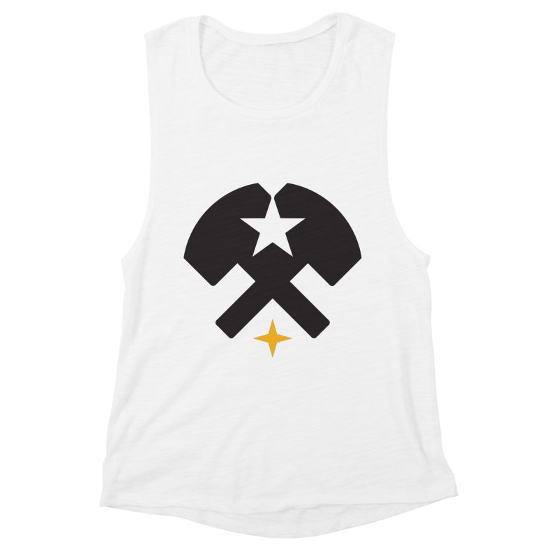 HCRD Stars and Hammers Women's Muscle Tank by Hammer City Roller Derby