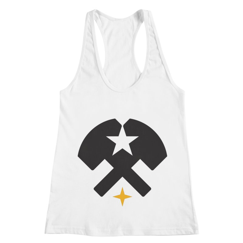 HCRD Stars and Hammers Women's Racerback Tank by Hammer City Roller Derby