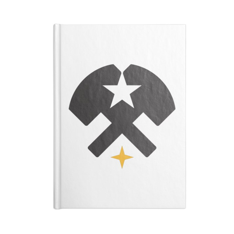 HCRD Stars and Hammers Accessories Blank Journal Notebook by Hammer City Roller Derby