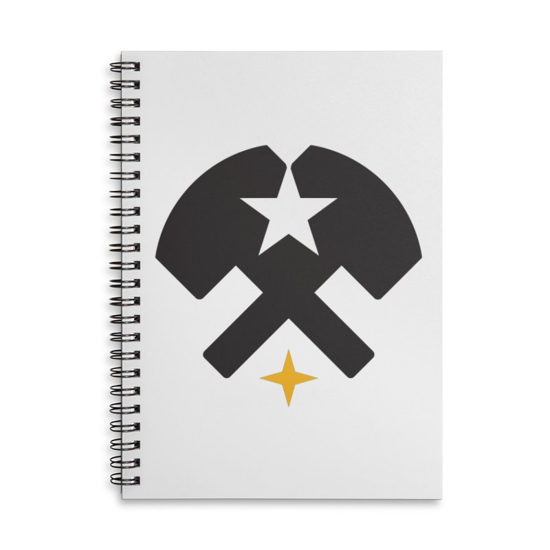 HCRD Stars and Hammers Accessories Lined Spiral Notebook by Hammer City Roller Derby