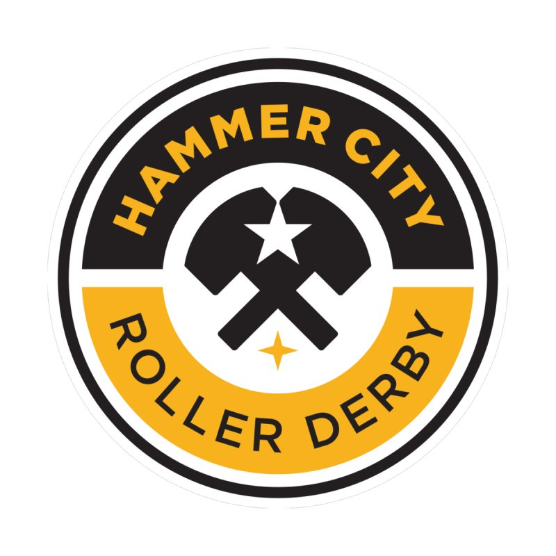 HCRD official logo Kids T-Shirt by Hammer City Roller Derby
