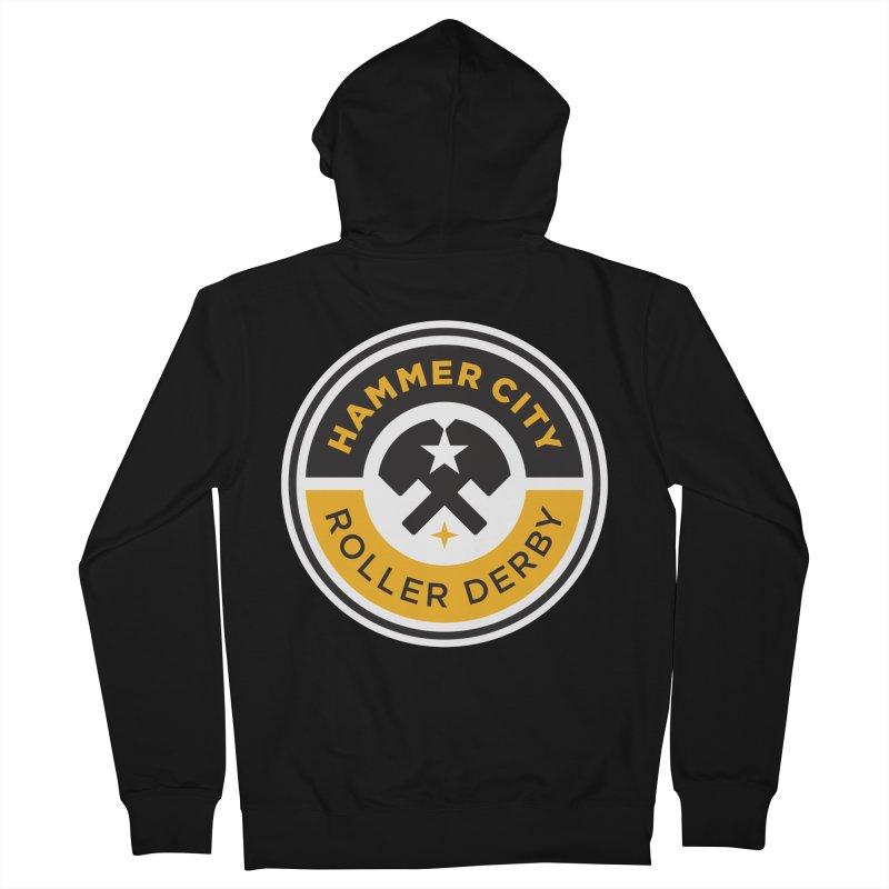 HCRD official logo Men's Zip-Up Hoody by Hammer City Roller Derby