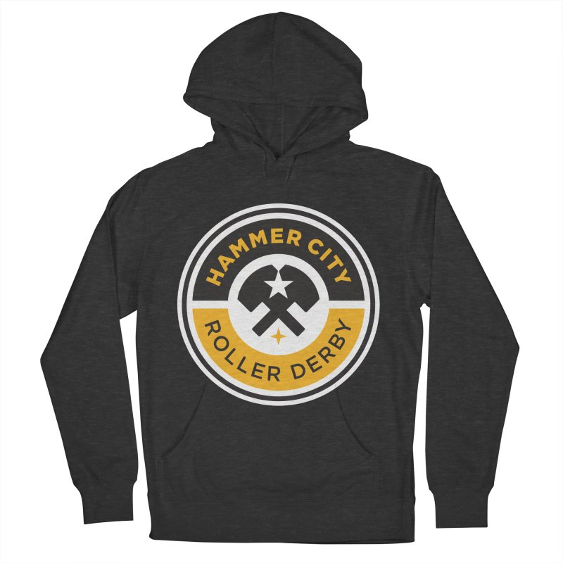 HCRD official logo Men's French Terry Pullover Hoody by Hammer City Roller Derby