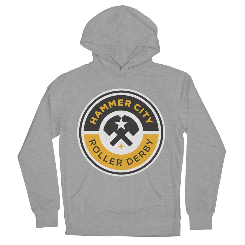 HCRD official logo Men's Pullover Hoody by Hammer City Roller Derby
