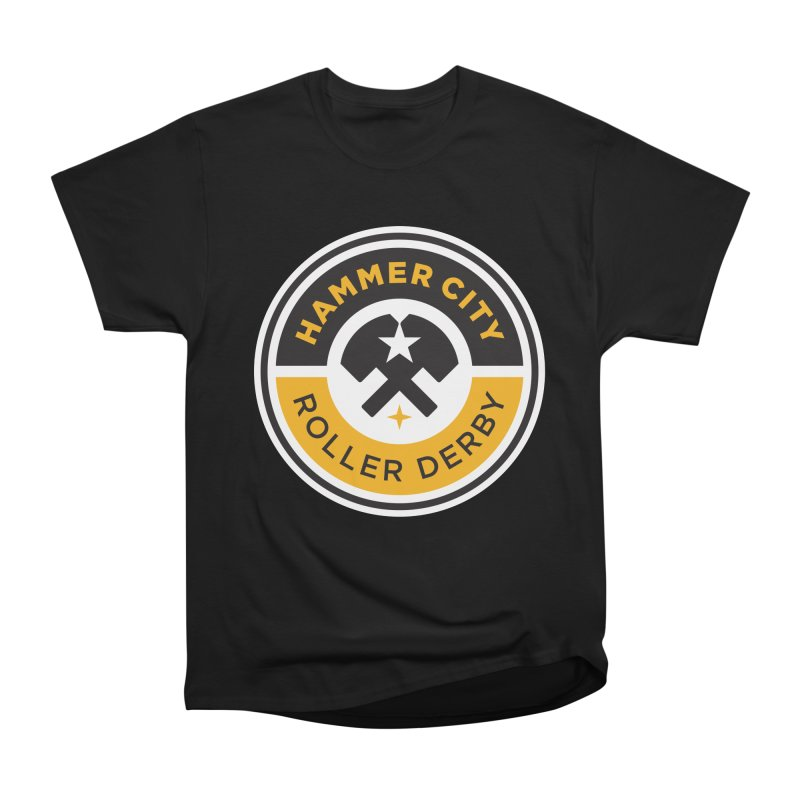 HCRD official logo Men's Heavyweight T-Shirt by Hammer City Roller Derby