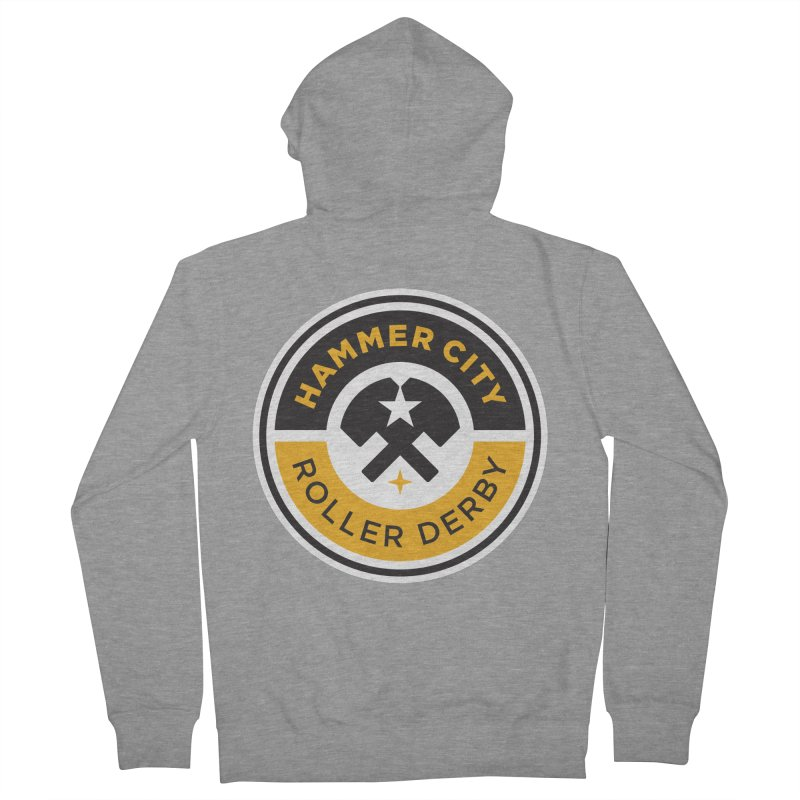 HCRD official logo Women's French Terry Zip-Up Hoody by Hammer City Roller Derby