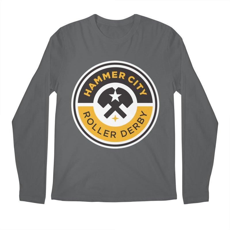 HCRD official logo Men's Regular Longsleeve T-Shirt by Hammer City Roller Derby