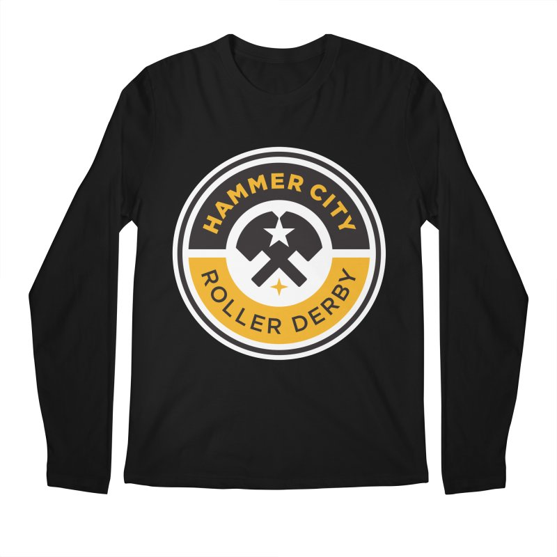 HCRD official logo Men's Regular Longsleeve T-Shirt by Hammer City Roller Derby