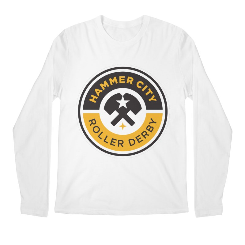 HCRD official logo Men's Longsleeve T-Shirt by Hammer City Roller Derby