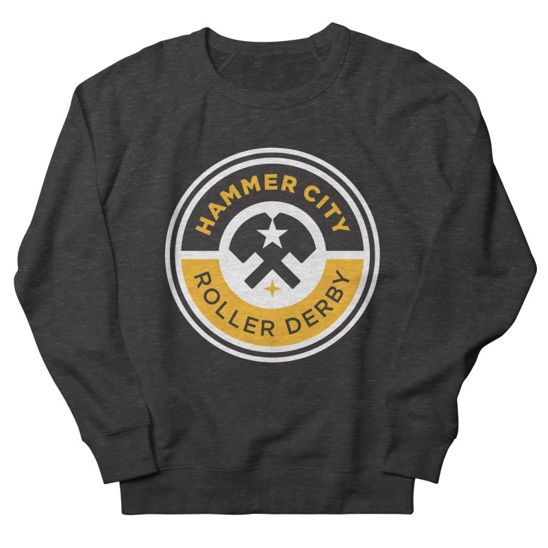 HCRD official logo Women's French Terry Sweatshirt by Hammer City Roller Derby