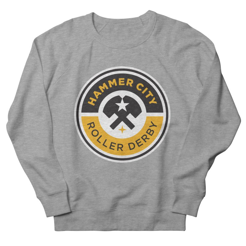 HCRD official logo Men's French Terry Sweatshirt by Hammer City Roller Derby