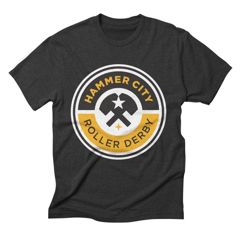 HCRD official logo Men's Triblend T-Shirt by Hammer City Roller Derby