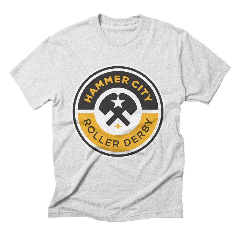 HCRD official logo Men's Triblend T-Shirt by Hammer City Roller Derby