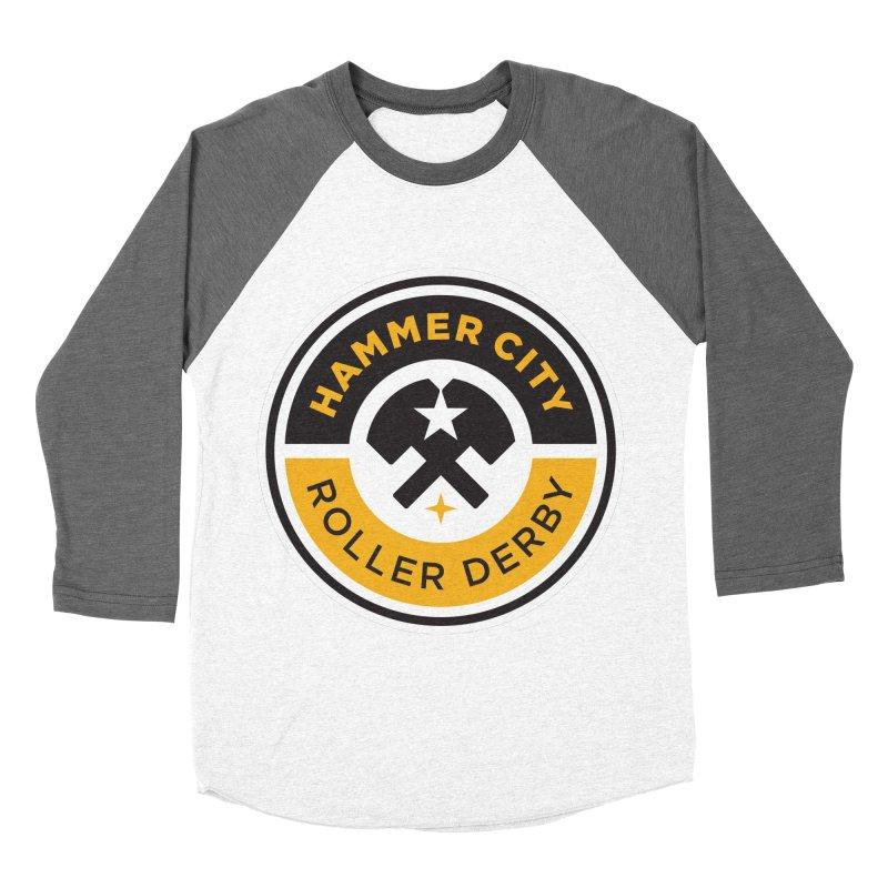 HCRD official logo Women's Baseball Triblend Longsleeve T-Shirt by Hammer City Roller Derby