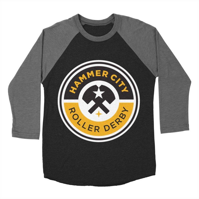 HCRD official logo Men's Baseball Triblend Longsleeve T-Shirt by Hammer City Roller Derby