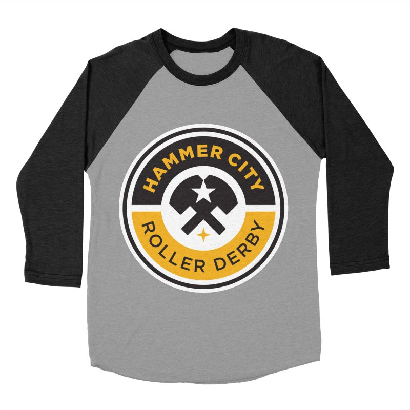 HCRD official logo Men's Baseball Triblend T-Shirt by Hammer City Roller Derby