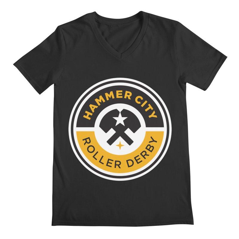HCRD official logo Men's V-Neck by Hammer City Roller Derby
