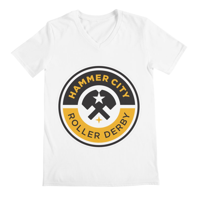 HCRD official logo Men's V-Neck by Hammer City Roller Derby