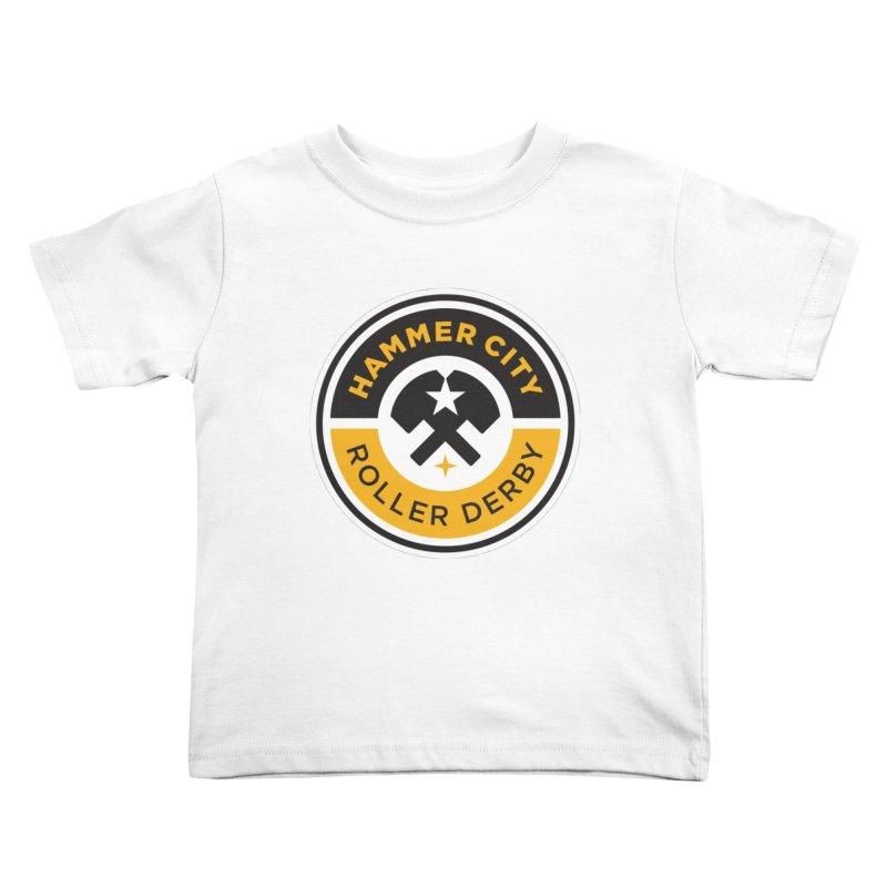 HCRD official logo Kids Toddler T-Shirt by Hammer City Roller Derby