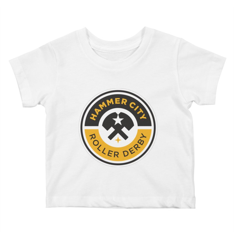 HCRD official logo Kids Baby T-Shirt by Hammer City Roller Derby