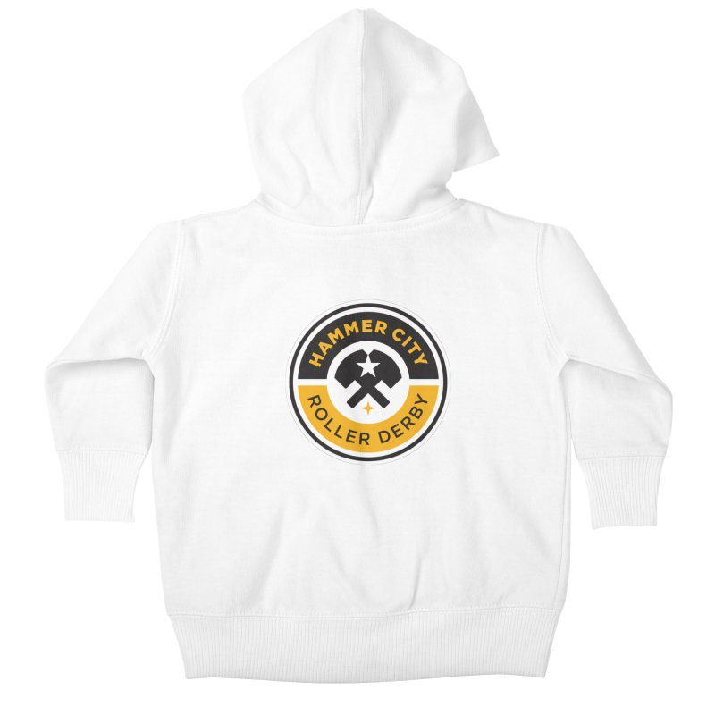 HCRD official logo Kids Baby Zip-Up Hoody by Hammer City Roller Derby