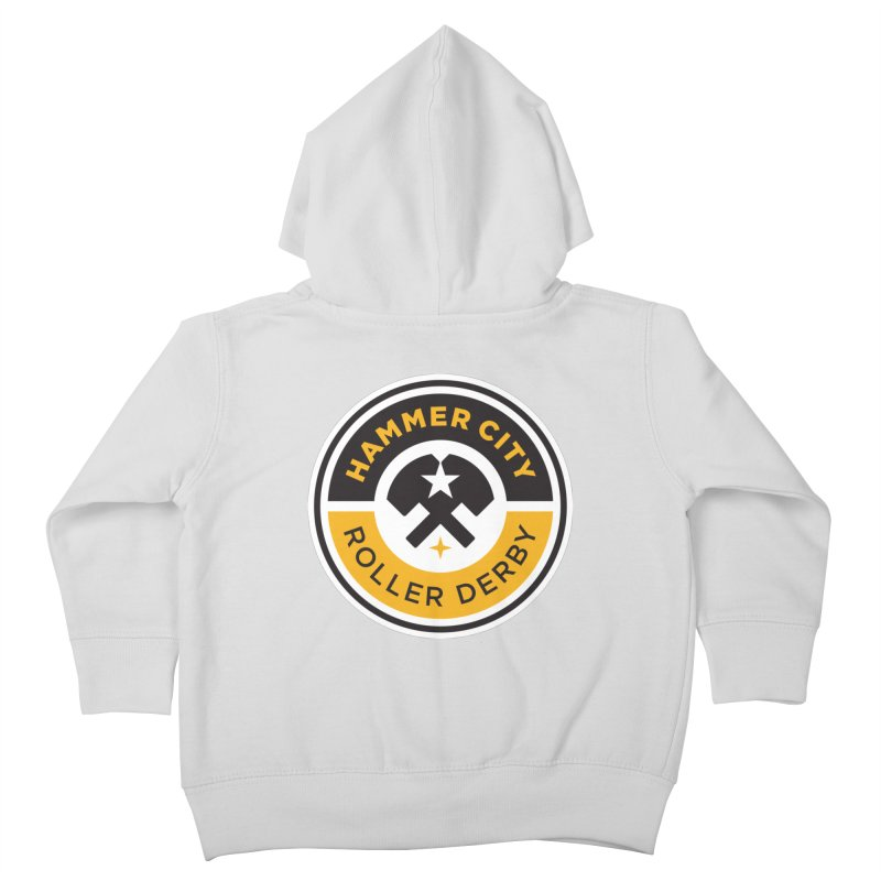 HCRD official logo Kids Toddler Zip-Up Hoody by Hammer City Roller Derby
