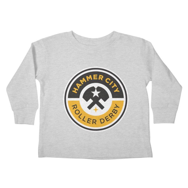 HCRD official logo Kids Toddler Longsleeve T-Shirt by Hammer City Roller Derby