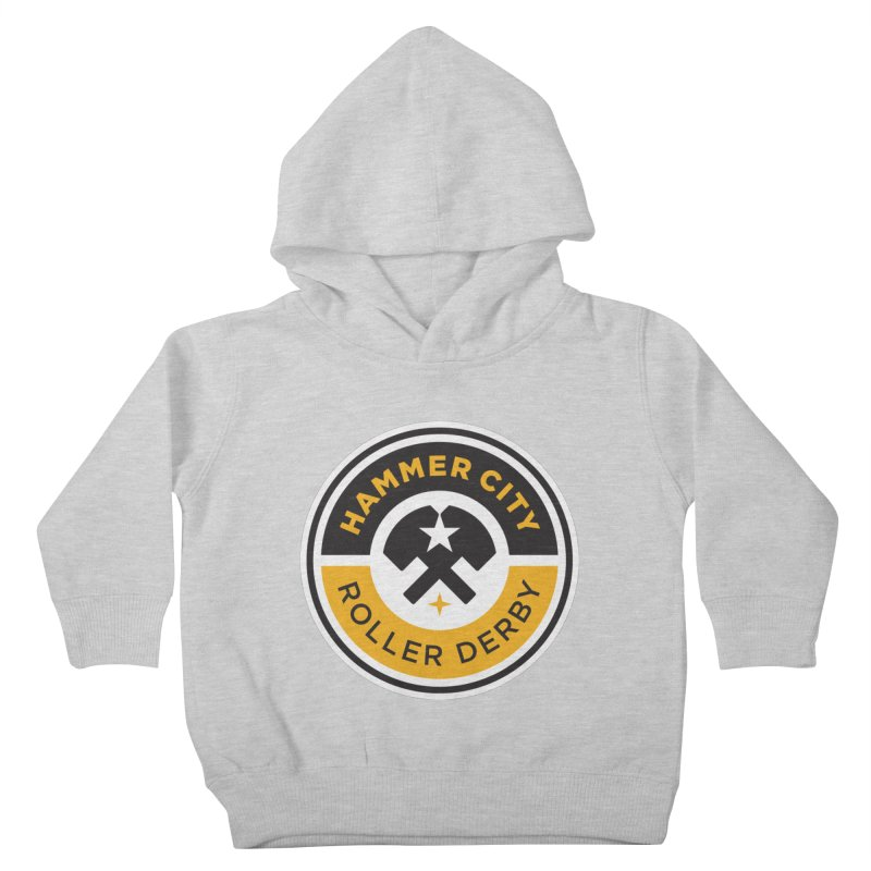 HCRD official logo Kids Toddler Pullover Hoody by Hammer City Roller Derby