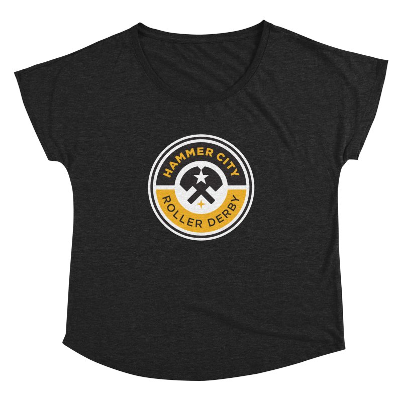 HCRD official logo Women's Dolman by Hammer City Roller Derby