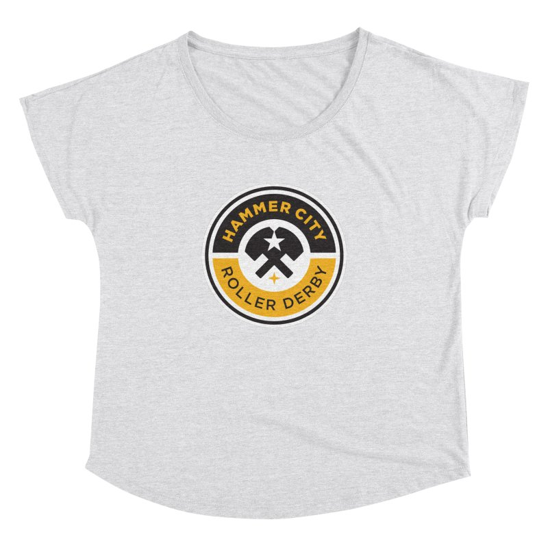 HCRD official logo Women's Dolman Scoop Neck by Hammer City Roller Derby
