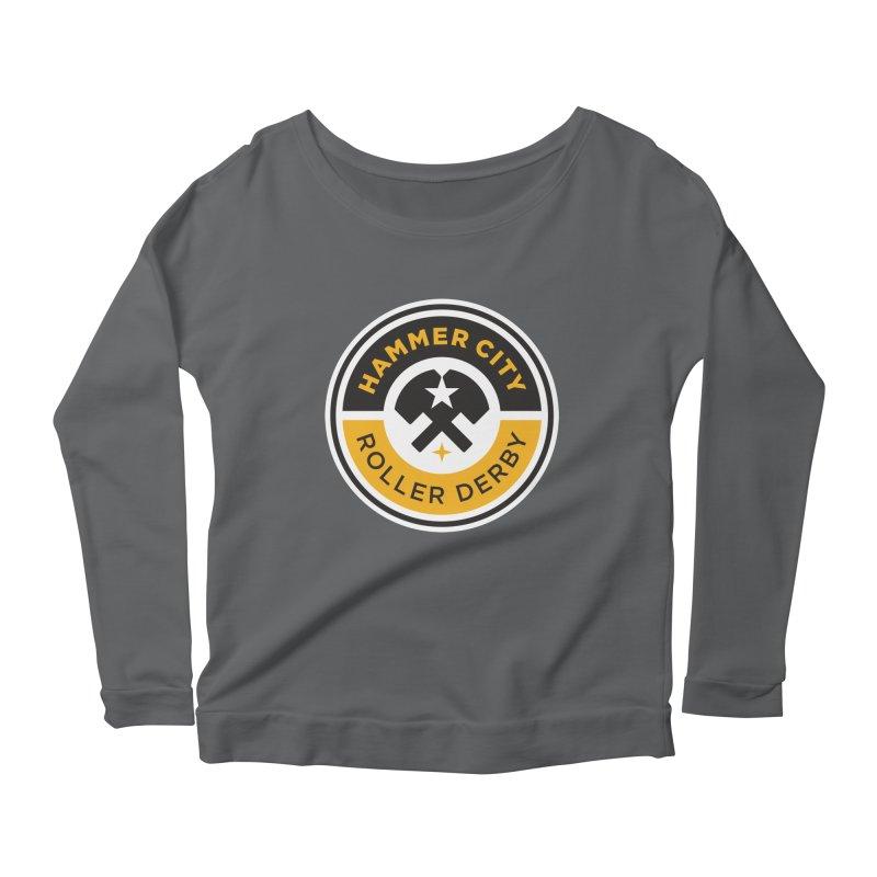 HCRD official logo Women's Longsleeve Scoopneck  by Hammer City Roller Derby