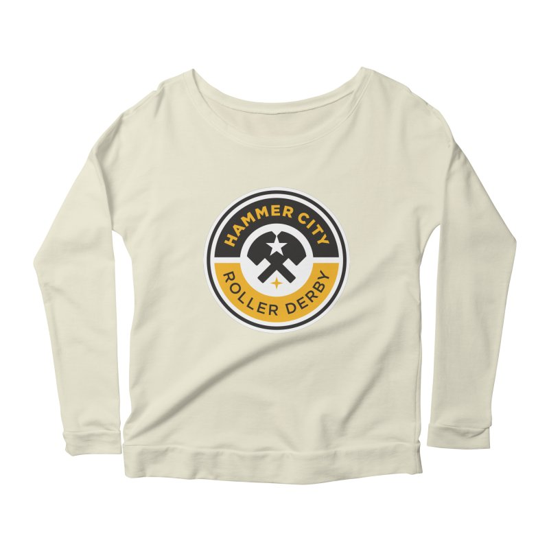 HCRD official logo Women's Longsleeve Scoopneck  by Hammer City Roller Derby