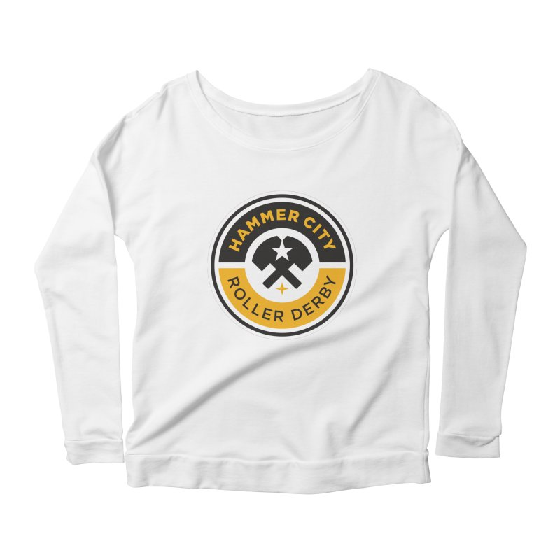 HCRD official logo Women's Scoop Neck Longsleeve T-Shirt by Hammer City Roller Derby