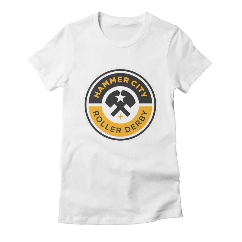 HCRD official logo Women's Fitted T-Shirt by Hammer City Roller Derby