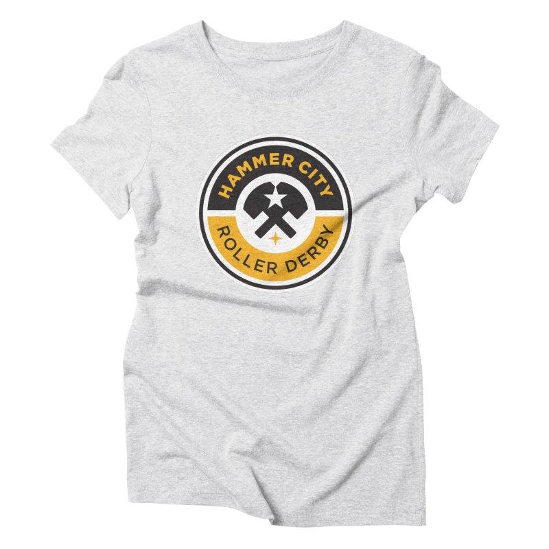 HCRD official logo Women's Triblend T-Shirt by Hammer City Roller Derby