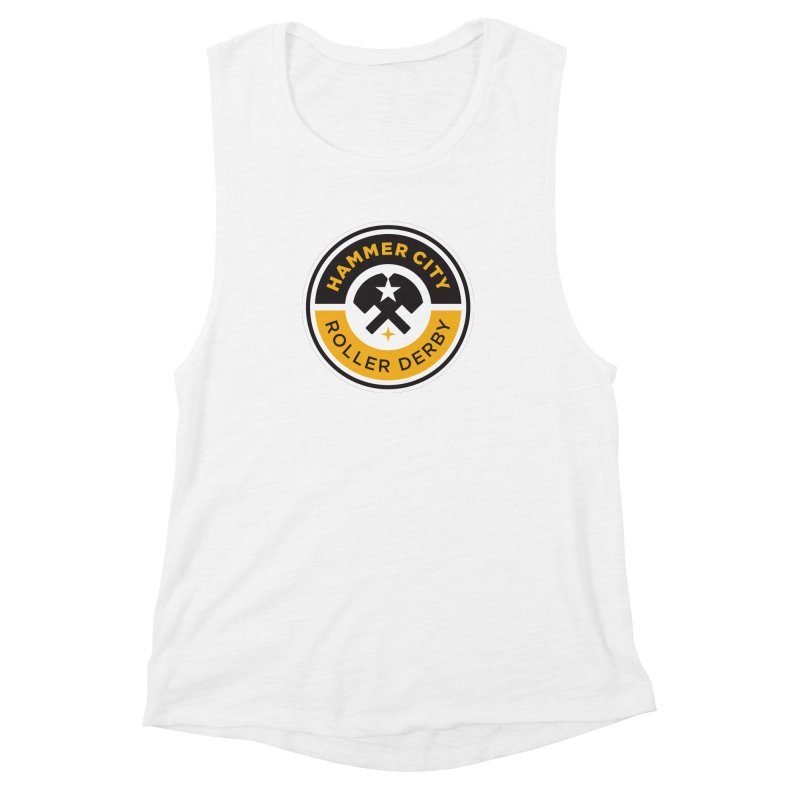 HCRD official logo Women's Muscle Tank by Hammer City Roller Derby