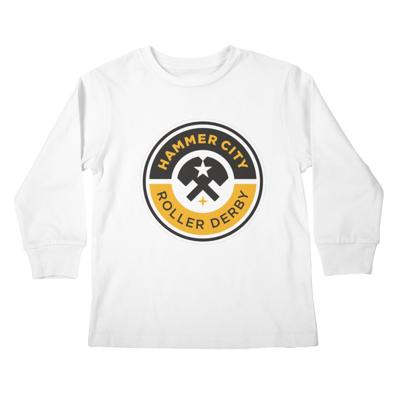 HCRD official logo Kids Longsleeve T-Shirt by Hammer City Roller Derby