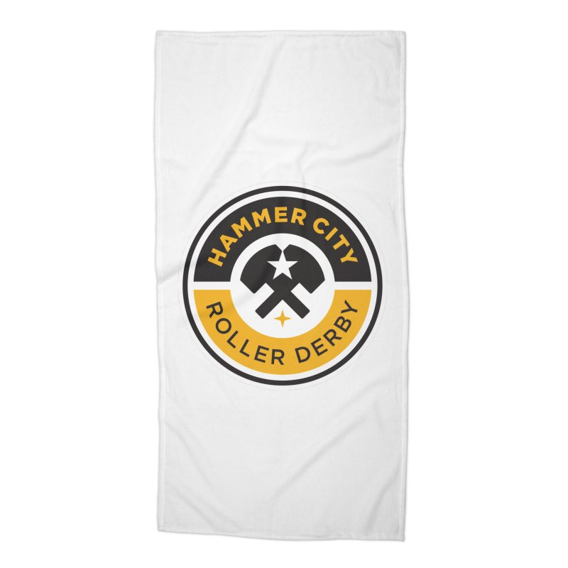 HCRD official logo Accessories Beach Towel by Hammer City Roller Derby