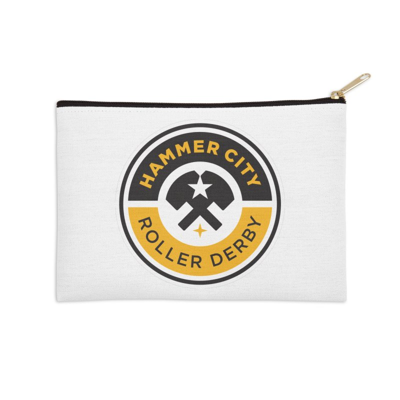 HCRD official logo Accessories Zip Pouch by Hammer City Roller Derby