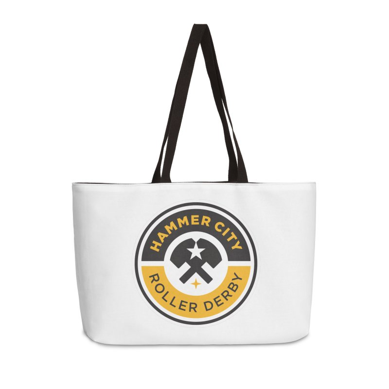 HCRD official logo Accessories Weekender Bag Bag by Hammer City Roller Derby